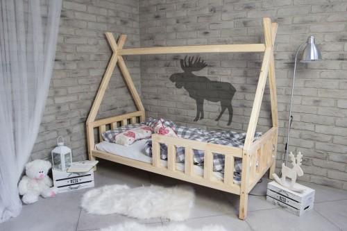 łóżko Domek Tipi Sosnowe 140x80 Cm Studio Malucha łóżka Dziecięce